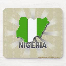 Nigeria Flag Map 2.0 Mouse Pad