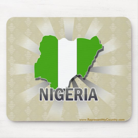 Nigeria Flag Map 2.0 Mouse Pad