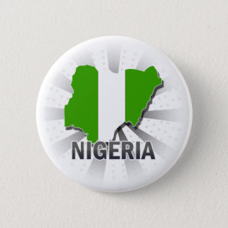 Nigeria Flag Map 2.0 Pinback Button