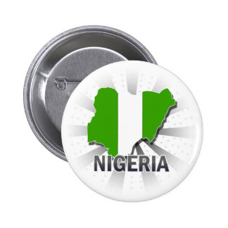 Nigeria Flag Map 2.0 Pinback Button