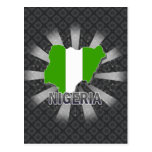 Nigeria Flag Map 2.0 Postcard