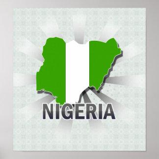 Nigeria Flag Map 2.0 Poster