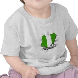 Nigeria Flag Map 2.0 Tee Shirts