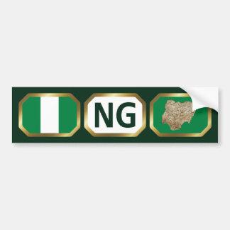 Nigeria Flag Map Code Bumper Sticker