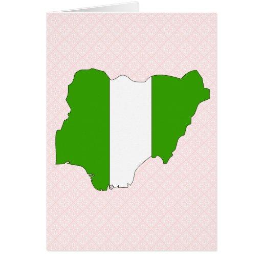 Nigeria Flag Map full size Card