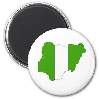 Nigeria Flag Map full size Fridge Magnets