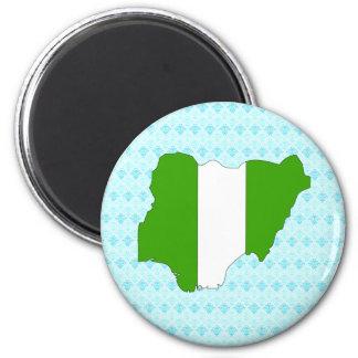 Nigeria Flag Map full size Refrigerator Magnet