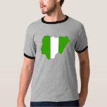 Nigeria Flag Map full size T-Shirt