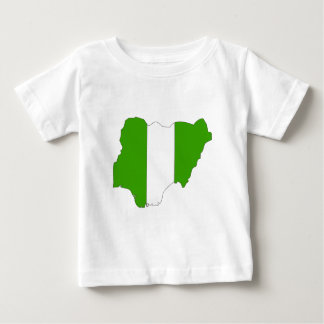 Nigeria Flag Map full size Tees