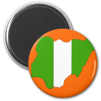 Nigeria flag map magnet