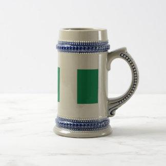 Nigeria flag 18 oz beer stein