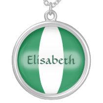 Nigeria Flag   Name Necklace