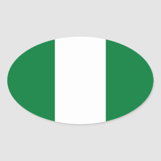 Nigeria Flag Oval Sticker