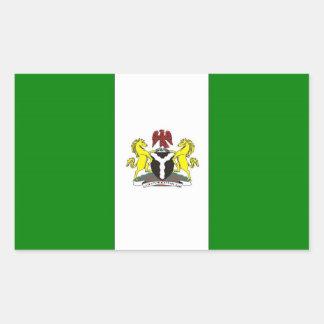 Nigeria Flag Rectangular Sticker