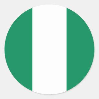 Nigeria Flag Round Stickers (pack)