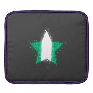 Nigeria Flag Star Shining iPad Sleeve