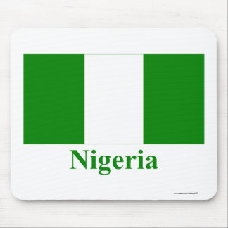 Nigeria Flag with Name Mousepads