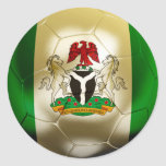 Nigeria Football Classic Round Sticker