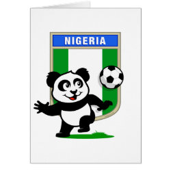 Nigeria Football Panda Greeting Card