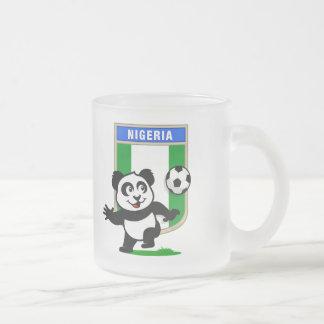 Nigeria Football Panda 10 Oz Frosted Glass Coffee Mug