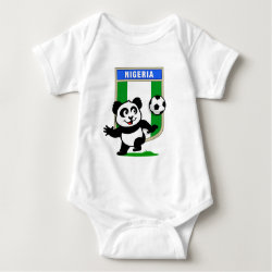 Baby Jersey Bodysuit with Nigeria Football Panda design