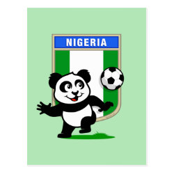 Postcard with Nigeria Football Panda design