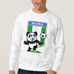 Nigeria Football Panda Men's Basic Sweatshirt