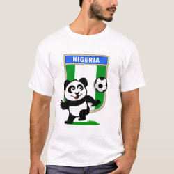 Nigeria Football Panda Men's Basic T-Shirt