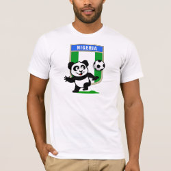 Men's Basic American Apparel T-Shirt with Nigeria Football Panda design