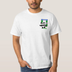 Men's Crew Value T-Shirt with Nigeria Football Panda design