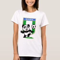 Women's Basic T-Shirt with Nigeria Football Panda design