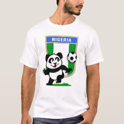 Men's Basic T-Shirt with Nigeria Football Panda design