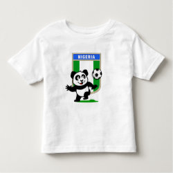 Toddler Fine Jersey T-Shirt with Nigeria Football Panda design