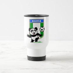 Travel / Commuter Mug with Nigeria Football Panda design