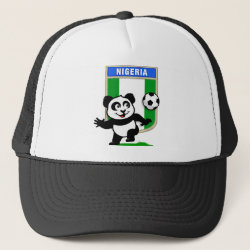 Nigeria Football Panda Trucker Hat