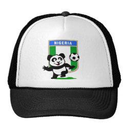 Trucker Hat with Nigeria Football Panda design