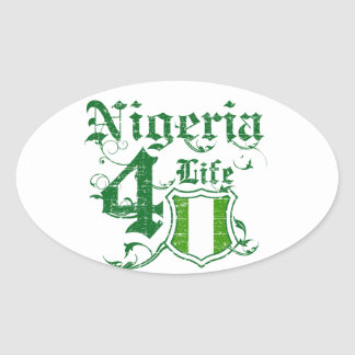 Nigeria for life oval sticker