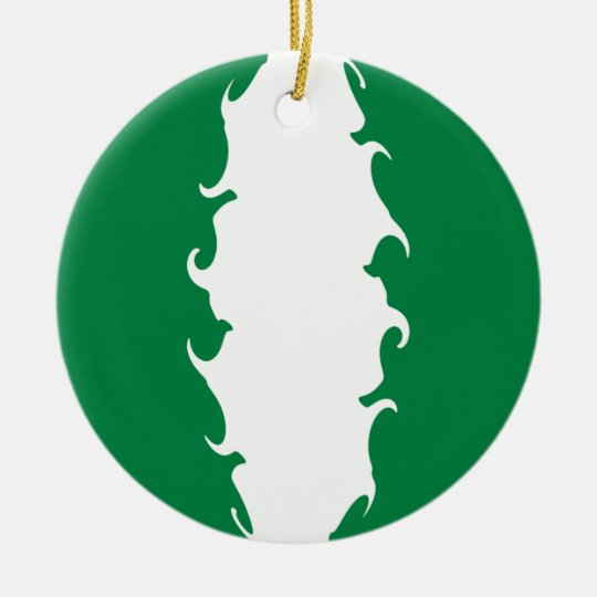 Nigeria Gnarly Flag Ceramic Ornament