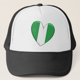 Nigeria Heart Flag Hat