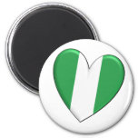 Nigeria Heart Flag Magnet