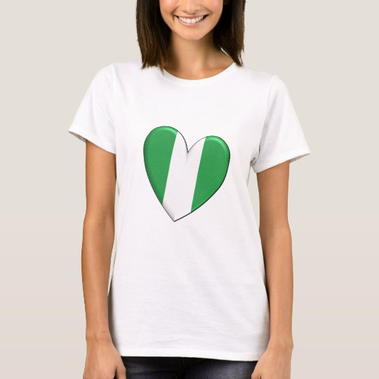 Nigeria Heart Flag T-shirt