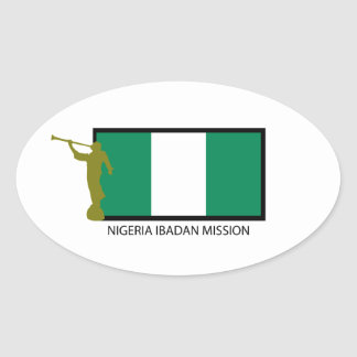 NIGERIA IBADAN MISSION LDS CTR OVAL STICKER