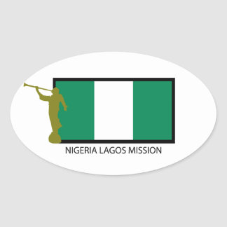NIGERIA LAGOS MISSION LDS CTR OVAL STICKER