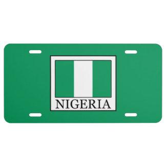 Nigeria License Plate