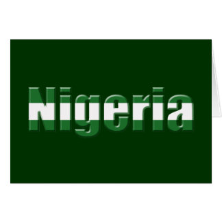 Nigeria Logo in the colors of the Nigerian flag Card