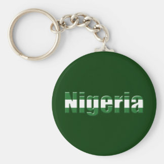 Nigeria Logo in the colors of the Nigerian flag Key Chains