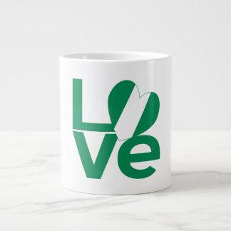 Nigeria LOVE Green Large Coffee Mug