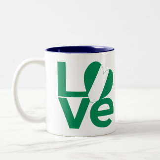 Nigeria LOVE Green Two-Tone Coffee Mug