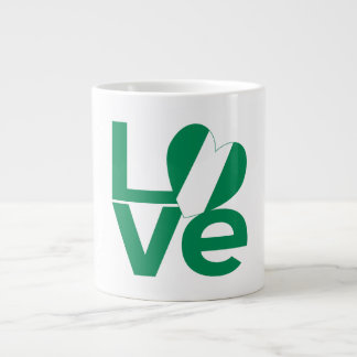 Nigeria LOVE Green 20 Oz Large Ceramic Coffee Mug