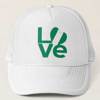 Nigeria LOVE Green Trucker Hat